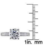 3 4/5 CT TGW White Cubic Zirconia Engagement Ring Silver - 7500050498
