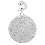 Wisdom Of Words Silver Plated 25mm Charm - D1105SL