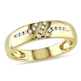 1/10 CT Diamond TW Mens Ring 10k Yellow Gold GH I2;I3 - 75000000839