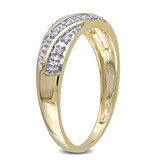 1/10 CT Diamond TW Mens Ring 10k Yellow Gold GH I2;I3 - 75000000838