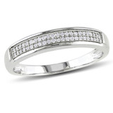 1/8 CT Diamond TW Mens Ring 10k White Gold GH I2;I3 - 75000000833