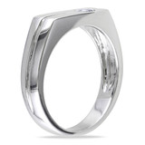 1/3 CT TGW White Sapphire Mens Ring Silver - 75000000862