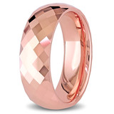 Mens Facetted Tungsten Wedding Band - 75000000891