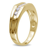 1/2 CT Diamond TW Mens Ring 10k Yellow Gold GH I2;I3 - 75000000881