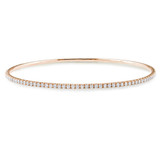 2 1/4 CT Diamond TW Bangle 14k Pink Gold GH I1;I2 - 75000001720