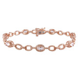 1 3/8 CT TGW Morganite Bracelet Pink Silver Pink Plated Length (inches): 7.25 - 75000001724