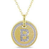0.07 CT Diamond TW Initials Pendant With Chain Yellow Silver GH I3 - 75000001765