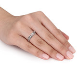 0.06 CT Diamond TW Ring Silver - 75000001909