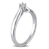 0.05 CT Princess Diamond TW Solitaire Ring Silver - 75000001921