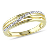 0.06 CT Diamond TW Ring Yellow Silver - 75000001911