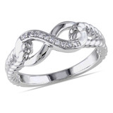 0.05 CT Diamond TW Ring Silver - 75000001948