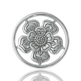 Lovely Flower Silver Plated 23mm Coin - C1028SS