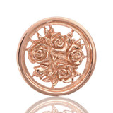 Bouquet with Roses Rose Gold Plated 23mm Coin - C1027RGS