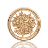 Bouquet with Roses Gold Plated 23mm Coin - C1027GS