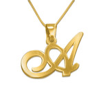 18K Gold Plated Capital Letter - SSG6