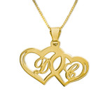 18K Gold Plated Intertwining Hearts - SSG5