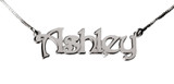Sterling Silver Ashley Name Necklace - SP180