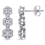 1/2 CT Diamond TW Ear Pin Earrings 10k White Gold GH I2;I3 - 75000003490