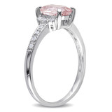 0.07 CT Diamond TW And 1 1/7 CT TGW Morganite Fashion Ring Silver GH I2;I3 - 75000003863