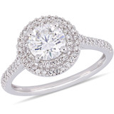 1/3 CT Diamond TW & 1 CT TGW Created Moissanite-White Fashion Ring 14k White Gold GH I1;I2 - 75000004113