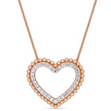 1/2 CT TW Diamond Heart Necklace In 14K Rose Gold - 75000004177