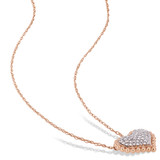 1/4 CT Diamond TW Fashion Pendant With Chain 10k Pink Gold GH I2;I3 - 75000004212