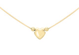 9ct Yellow Gold 3 Heart Charm Box Chain Necklace 42cm/16.5' - 1.16.0073