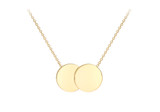 9ct Yellow Gold 16.8mm x 10mm Double Disc Adjustable Necklace 41cm/16'-43cm/17' - 1.19.7530