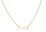 9ct Yellow Gold 15.5mm x 5.3mm Infinity Adjustable Necklace 41cm/16'-46cm/18' - 1.19.8154