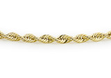 9ct Yellow Gold Hollow Rope Bracelet 18cm/7' - 1.22.0781