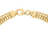 9ct Yellow Gold Hollow Woven Curb Bracelet 19cm/7.5' - 1.23.2612