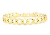 9ct Yellow Gold Hollow Curb Bracelet 19cm/7.5' - 1.23.4872