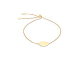 9ct Yellow Gold 12mm Disc Trace Chain Adjustable Slider Bracelet 20cm/8' - 1.29.7879