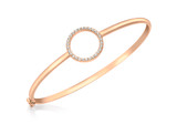 9ct Rose Gold CZ 16mm Ring Bangle - 5.37.2116