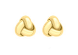 9ct Yellow Gold 7mm Knot Stud Earrings - 1.55.6239