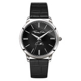 Classic Moonphase Black Leather Watch - WA0325-218-203-42 mm