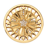 Wanderlust Star Gold Plated 33mm Coin - C1720GM