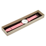 Leather Strap Watch in Silver/White/Pink - TWT004B_Silver_White_Pink