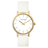 Classic Leather Watch in Gold/White/White - TWT000C_G_W_WHITE