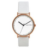 Lunar Leather Watch in Rose Gold/White/White - TWT005C_R_W_WHITE