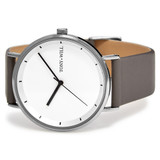 Lunar Leather Watch in Silver/White/Grey - TWT005C_S_W_GREY