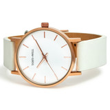 Small Classic Leather Watch in Rose Gold/White/White - TWT004C_R_W_WHITE