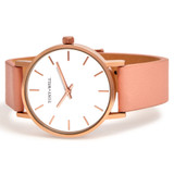 Small Classic Leather Watch in Rose/White/Rose - TWT004C_R_W_ROSE