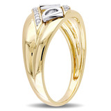 0.06 ct Diamond TW Mens Ring 10K Yellow Gold GH I2;I3 - 75000004382