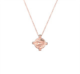Sterling Silver Necklace With Regal Medallion Pendant in Rose Gold - N322RG