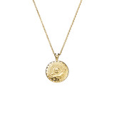 Sterling Silver Necklace With Egyptian Medallion Pendant in Gold - N321G