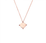 Sterling Silver Necklace With Etched Disc And Ball Detail Pendant in Rose Gold - N318RG
