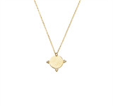 Sterling Silver Necklace With Etched Disc And Ball Detail Pendant in Gold - N318G