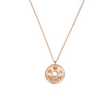 Sterling Silver Japanese Lucky Coin Necklace - N311RG