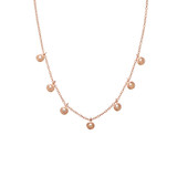 Rose Gold on Sterling Silver Multi Mini Freshwater Pearl Necklace - N310RG